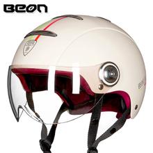 BEON头盔男女四季摩托车电动电瓶机车哈雷半盔夏季防晒安全帽轻便