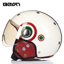 beon哈雷头盔B-103头盔护耳冬季保暖 摩托车半盔夏盔男女四季通用