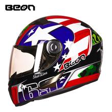 BEON摩托车头盔男女机车夏季防雾全盔覆式四季通用个性酷冬季保暖