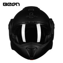 BEON摩托车头盔男女机车揭面盔全盔覆式半个性酷半盔四季通用夏季
